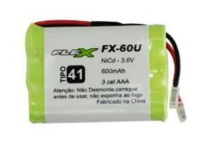 Bateria P/Telefone S/Fio X-CELL Und. FX-60U - FLEX