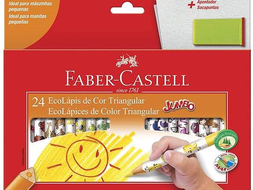 Lápis de Cor 24 Cores Jumbo - FABER CASTELL