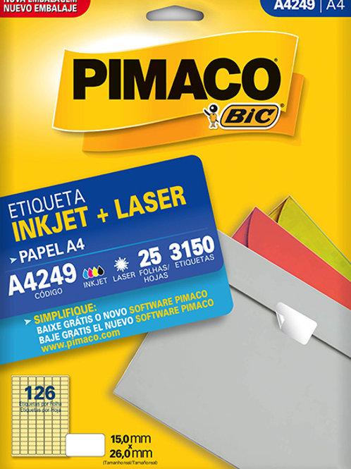 Etiqueta A4 25 Folhas REF: A4249 - PIMACO