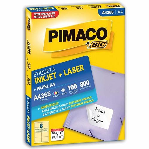 Etiqueta A4 100 Folhas REF: A4365 | PIMACO