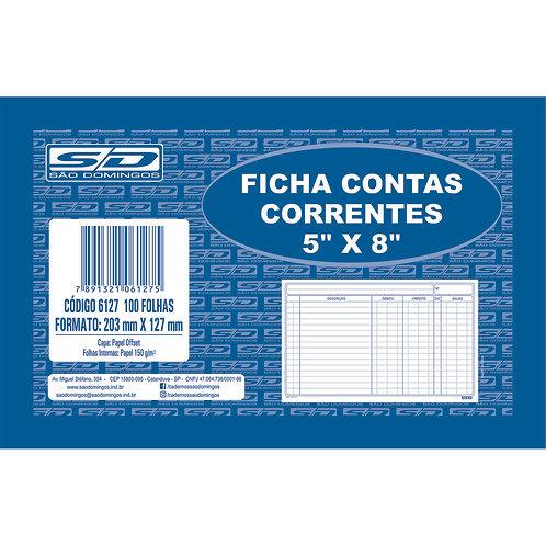 Ficha Contas Correntes C/100 Folhas - SÃO DOMINGOS