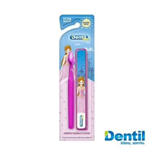 Escova de Dente Kids com Estojo Menina - DENTIL