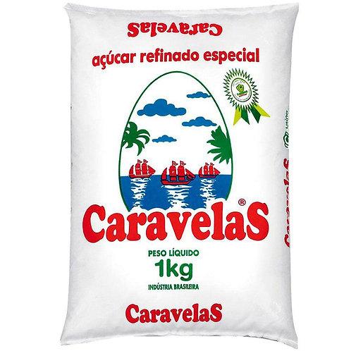 Açúcar Refinado 1KG - CARAVELAS