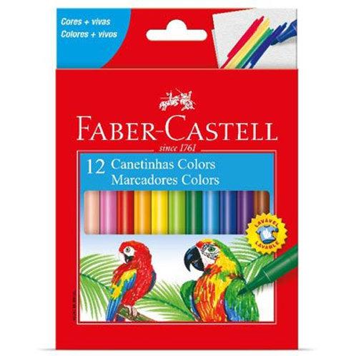 Canetinha Colors C/ 12 Cores - FABER CASTELL