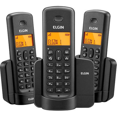 Telefone Sem Fio 2 Ramais Preto - ELGIN