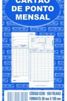 Cartão de Ponto Mensal C/ 100 Folhas - São Domingos
