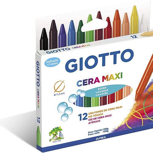 Giz de Cera Maxi C/ 12 Cores - GIOTTO