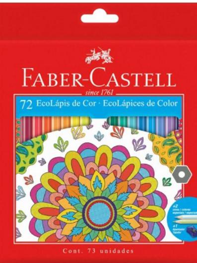 Lápis de Cor 72 Cores C/ Apontador - FABER CASTELL