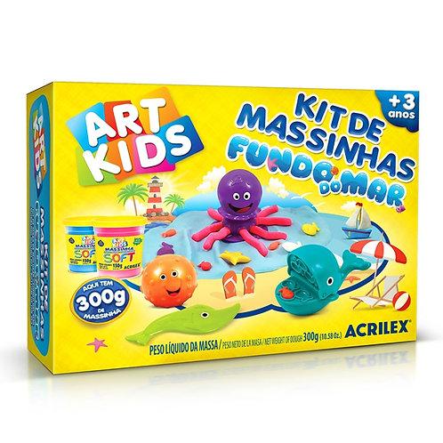 Kit de Massinhas Fundo do Mar Art Kids - ACRILEX