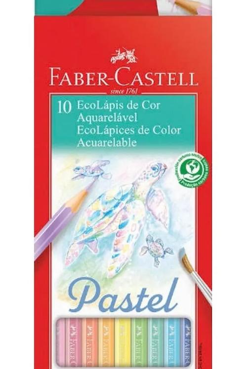 Lápis de Cor Ecolápis 10 Cores Pastel   FABER-CASTELL
