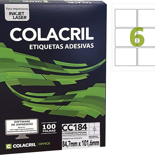 Etiqueta Carta com 100 Folhas REF: CC184 - COLACRIL