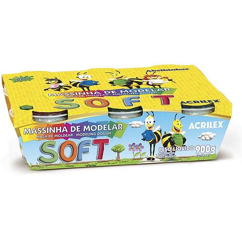 Kit Massa de Modelar Soft C/ 6 Cores - ACRILEX
