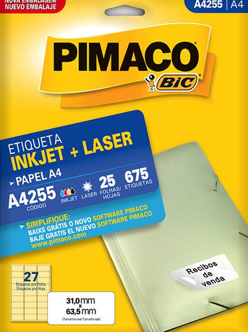 Etiqueta A4 25 Folhas REF: A4255 - PIMACO