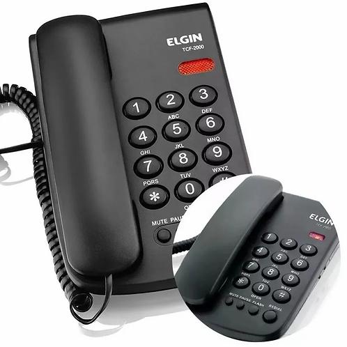 Telefone de Mesa TCF 2000 Preto - ELGIN