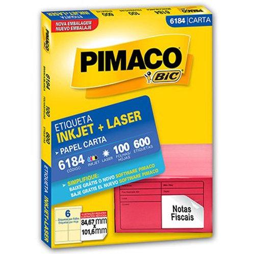 Etiqueta Carta Ref:6184 PCT C/ 600 Etiquetas - PIMACO