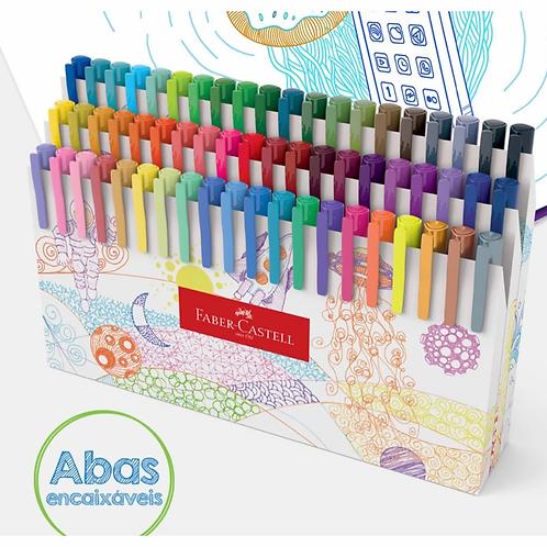 Caneta Fine Pen Colors 60 Cores - FABER CASTELL