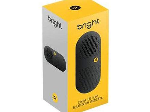 Caixa de Som Bluetooth Preto Portátil - BRIGHT