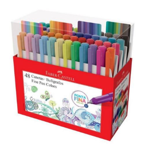 Canetas Fine Pen Colors C/ 48 Cores - FABER CASTELL