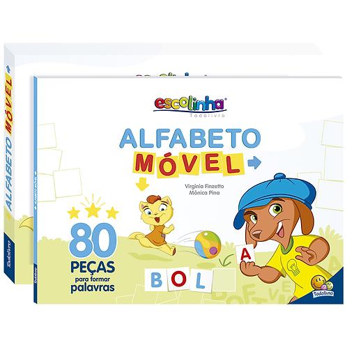 Escolinha Alfabeto Móvel C/80 Peças - TODOLIVRO
