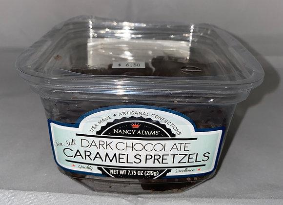 Dark Chocolate Caramel Pretzels