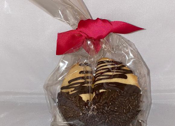 Large Fortune Cookie - Dark Chocolate