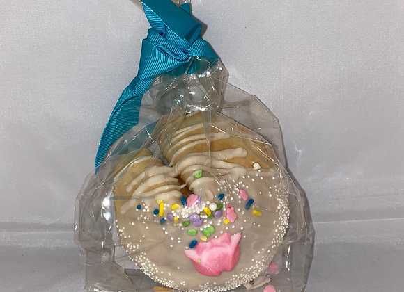 Large Fortune Cookie - White Chocolate