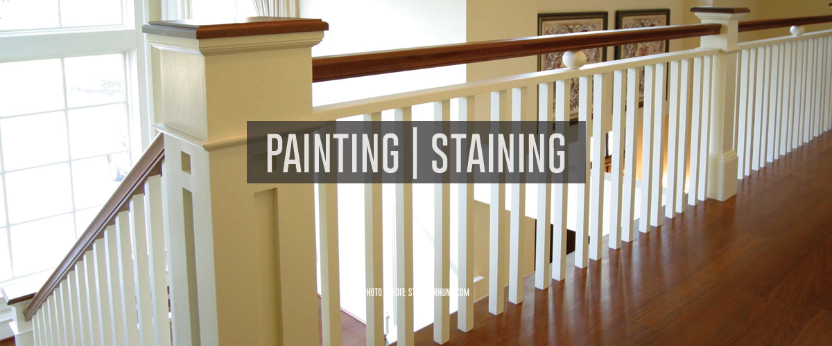 Painting and Staining: Railing