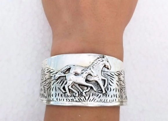 Cuff Mare and Foal Bracelet