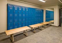 locker room sanitized by UV lite and steam