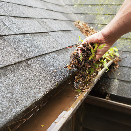 A little gutter maintenance goes a long way.