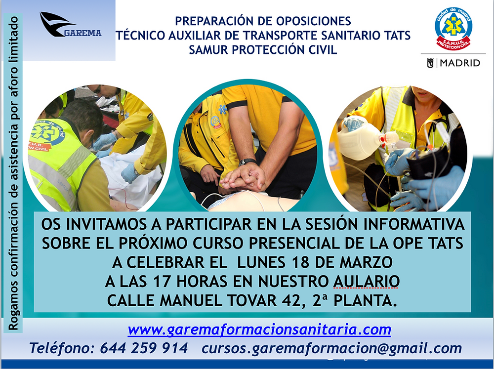 Oposición TATS - TES . Samur-pc. Madrid.