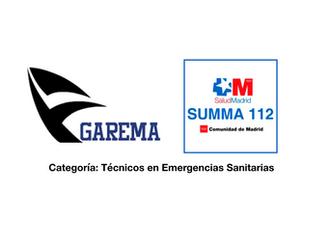 Plazas SUMMA 112 Categoría TES