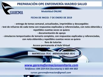 Ope Enfermería Madrid Salud 2019.