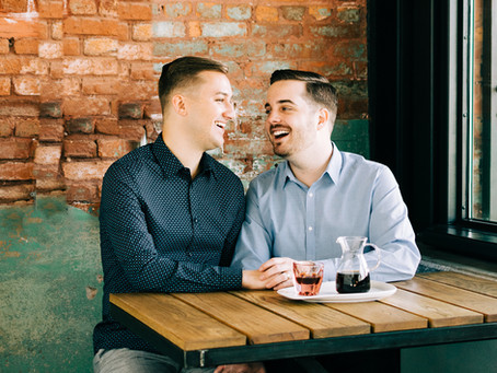 Armature Works Tampa Engagement Session | Sam & Tyler & Benji
