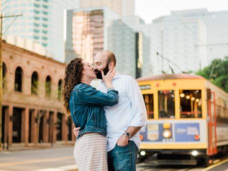 Downtown Tampa Engagement | Tampa Theatre | Megan & Jeff