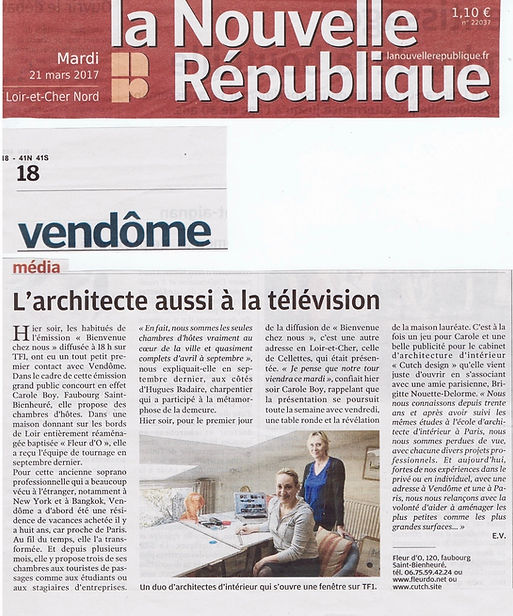 CUTCH design La Nouvelle Republique Vendome