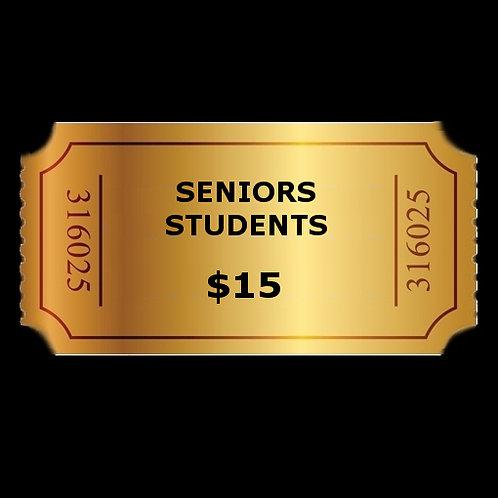 Seniors & Students Saturday, Nov. 23, 2019 8:00pm