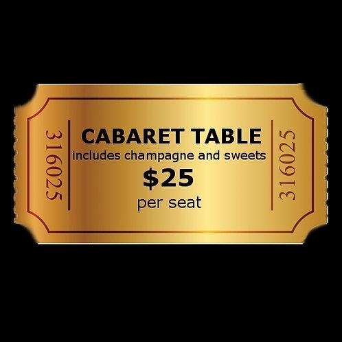 Cabaret Table (per seat) Saturday, Nov. 23, 2019 8:00pm