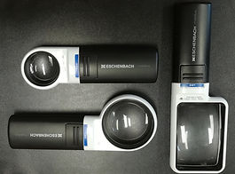 This image shos a closer look at 3 of the Eschenbach LED magnifiers.