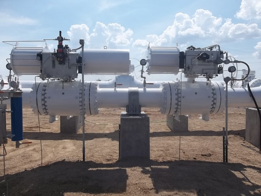 Both 16'' Control Valves on the Bypass.