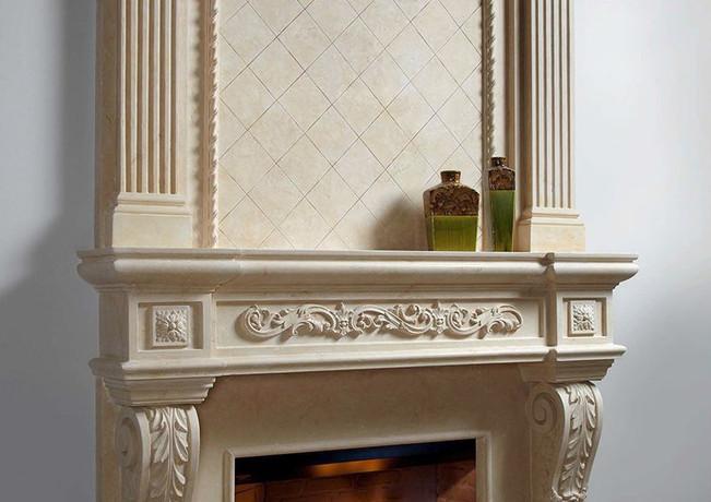 Parisian Majestic Stone Fireplace Mantel