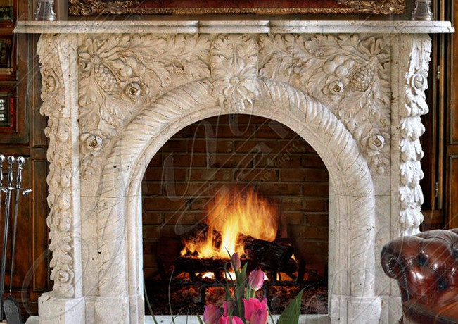 Marble Fireplaces  - Grape Archway Marbl