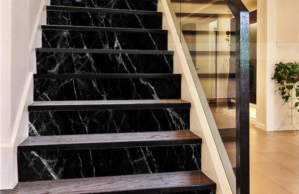3D Classic Black 884 Marble Tile Texture