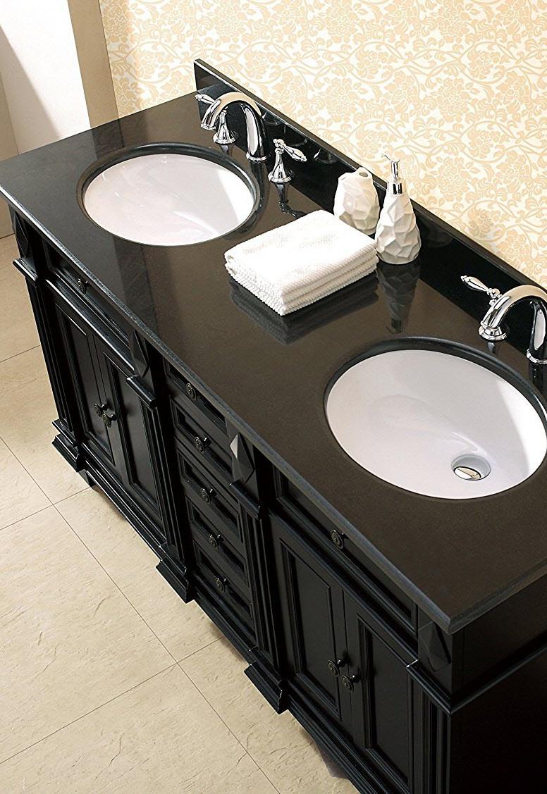 Milan Bathroom Vanity Set with Black Gra
