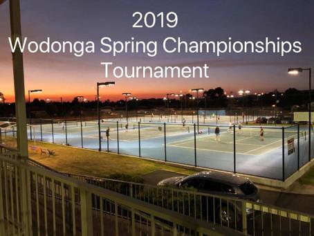 2019 Wodonga Spring Championships Tournament