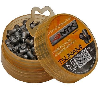 Chumbinho NTK TSUAMI 5.5 mm / 125 UNIDADES