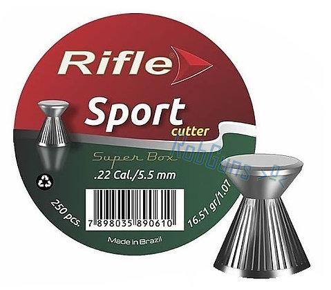 CHUMBINHO RIFLE SPORT CUTTER  5.5 mm / 250 UNIDADES