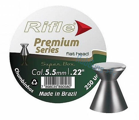 CHUMBINHO RIFLE PREMIUM FLAT HEAD 5.5 mm / 125 UNIDADES