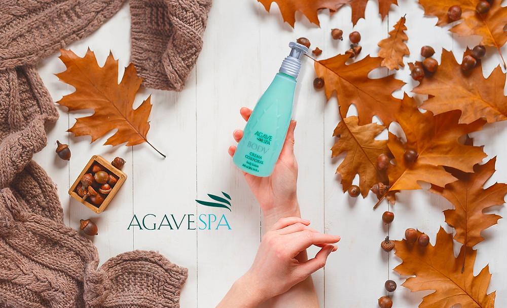 Crema hidratante hecha de agave Azul