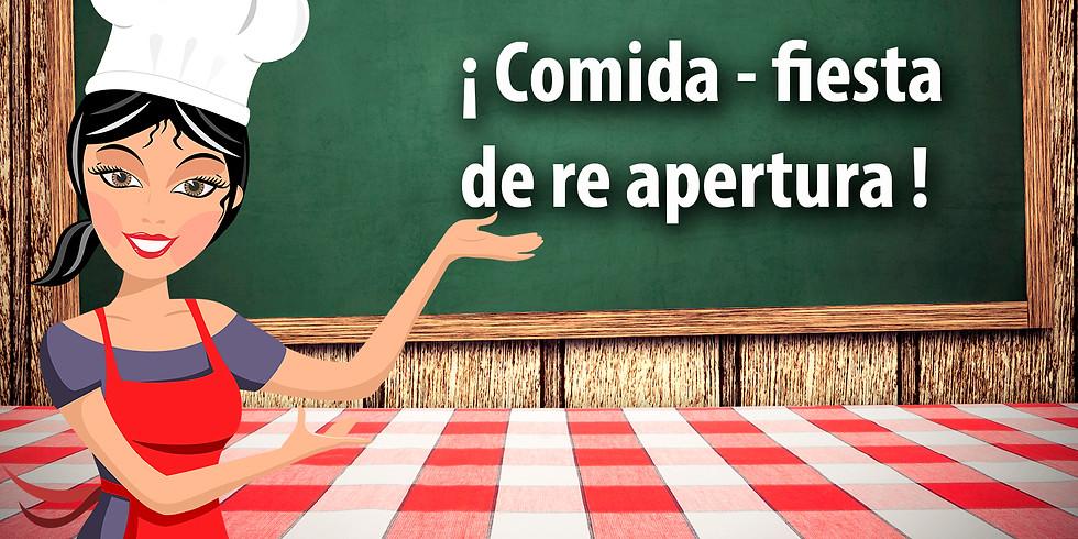 COMIDA DE RE-APERTURA COCINA CARRETAS